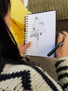 Sketching holiday in Montouliers