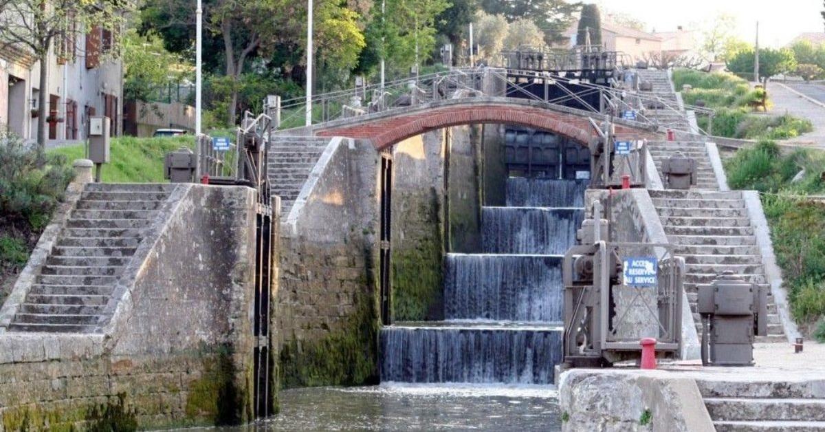 locks on the canal du midi