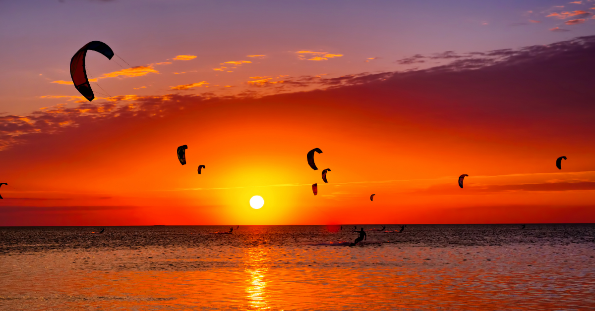kite surfing at Gruissan