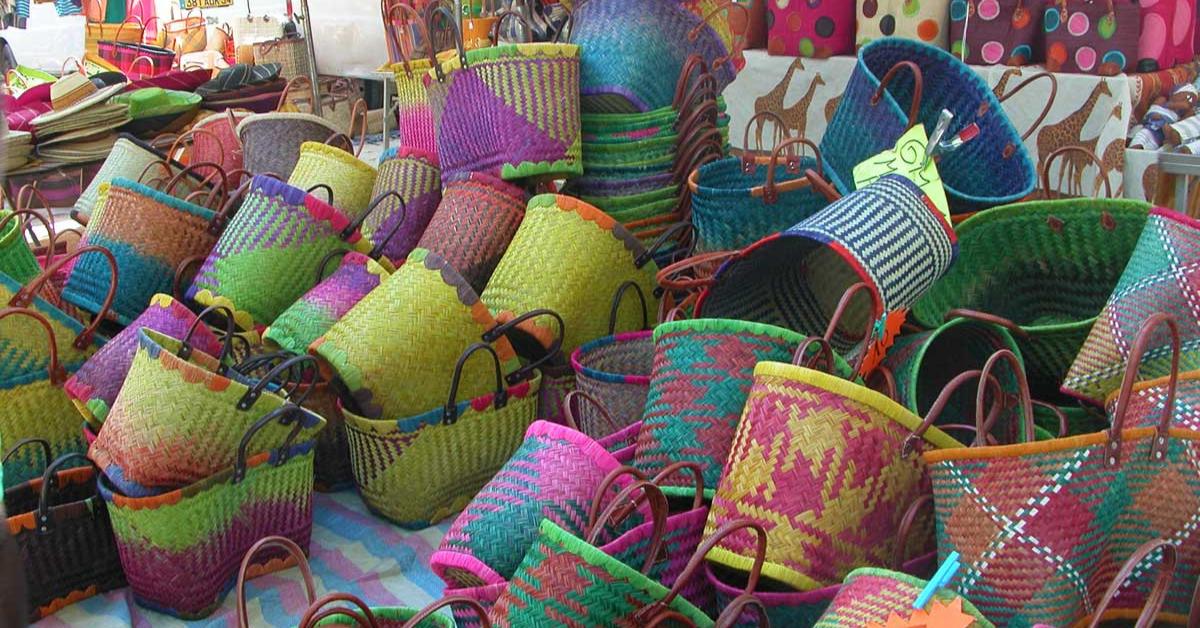 Baskets at St Chinian Market